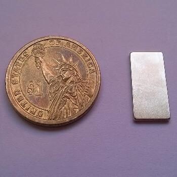 25 x 12 x 2mm neodymium Magnet - Block Magnet