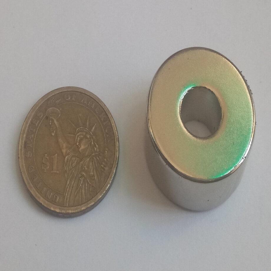 28mm x 10mm (Hole) x 12.50mm Neodymium Ring Magnet