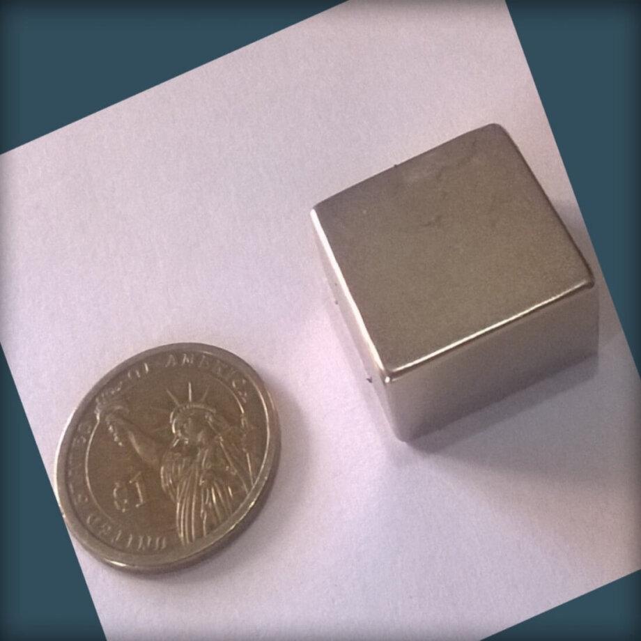 25mm x 25mm x 12.5mm neodymium block magnets