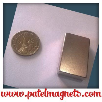 50 x 25 x 12.5mm thick., N52, Nickel, through thickness