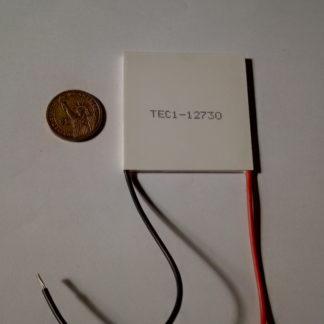 TEC1-12730 Size: 62x62x3.8mm, 12-16VDC, 30amps, DTmax: 62 degree