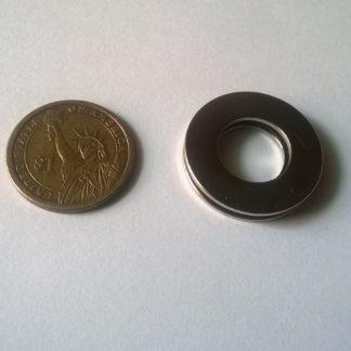 Ø30 x d15 x 1.5mm thick., N52, Nickel, Axial