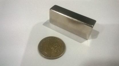 50x20x12.50mm thick., N52, Nickel, through thickness