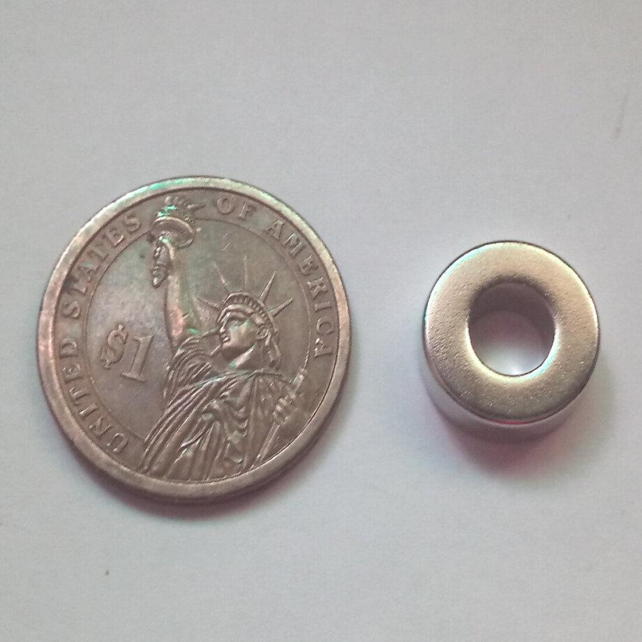 15mm x 7mm (Hole) x 5mm Neodymium Ring Magnets