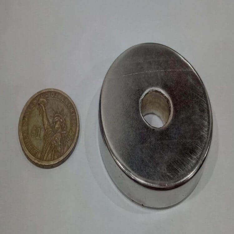 50mm x 10mm Hole x 12.5mm Neodymium Ring Magnets