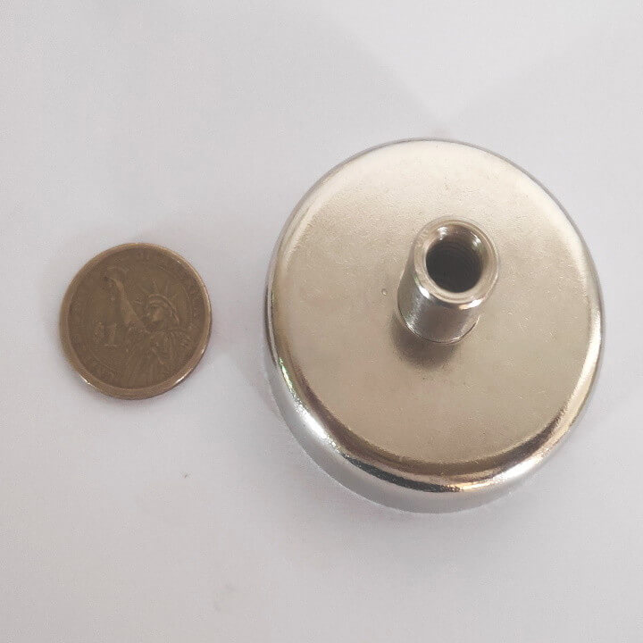 Internal Thread Pot Magnets PME-D60 - Force 112.0kg
