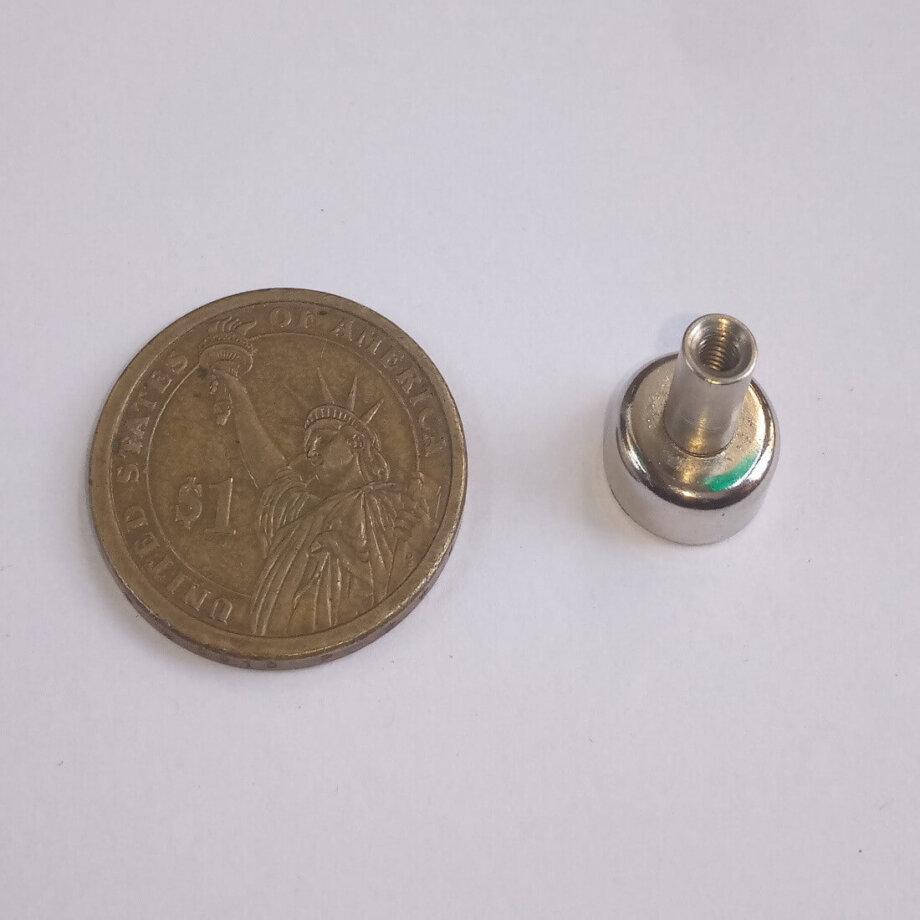 Internal thread pot magnets PME-D12 Force 3.0Kg