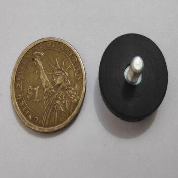 External Thread Rubber Pot Magnet PME-H22 – Force 5.1kg