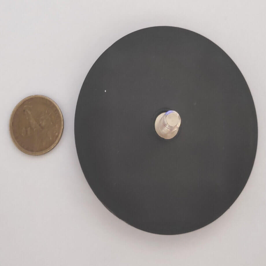 External Thread Rubber Pot Magnet PME-H88 – Force 42.9kg
