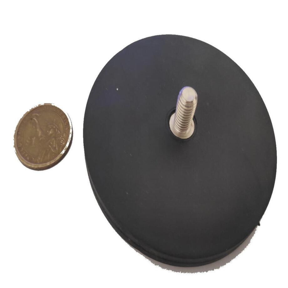 External Thread Rubber Pot Magnet PME-H88