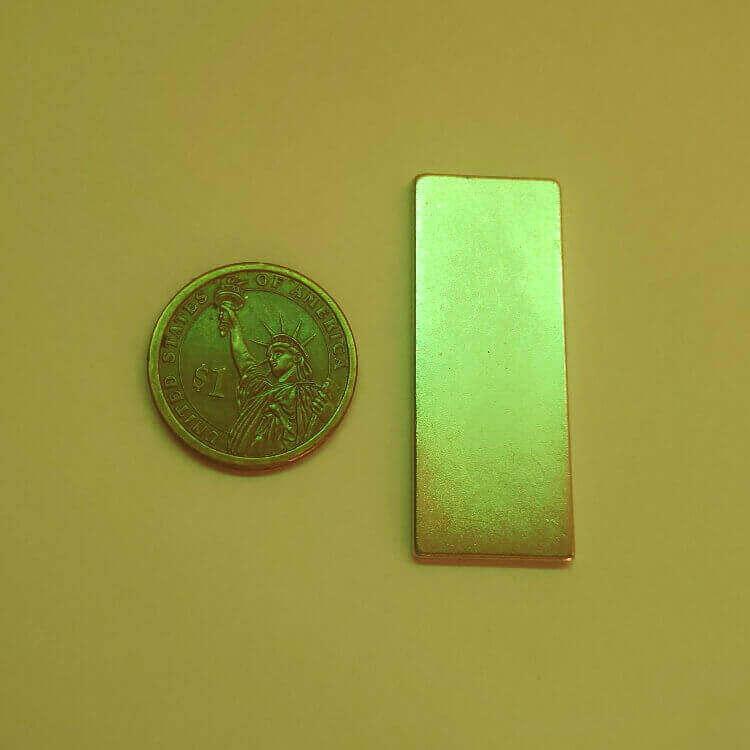 50 x 20 x 2mm neodymium magnet