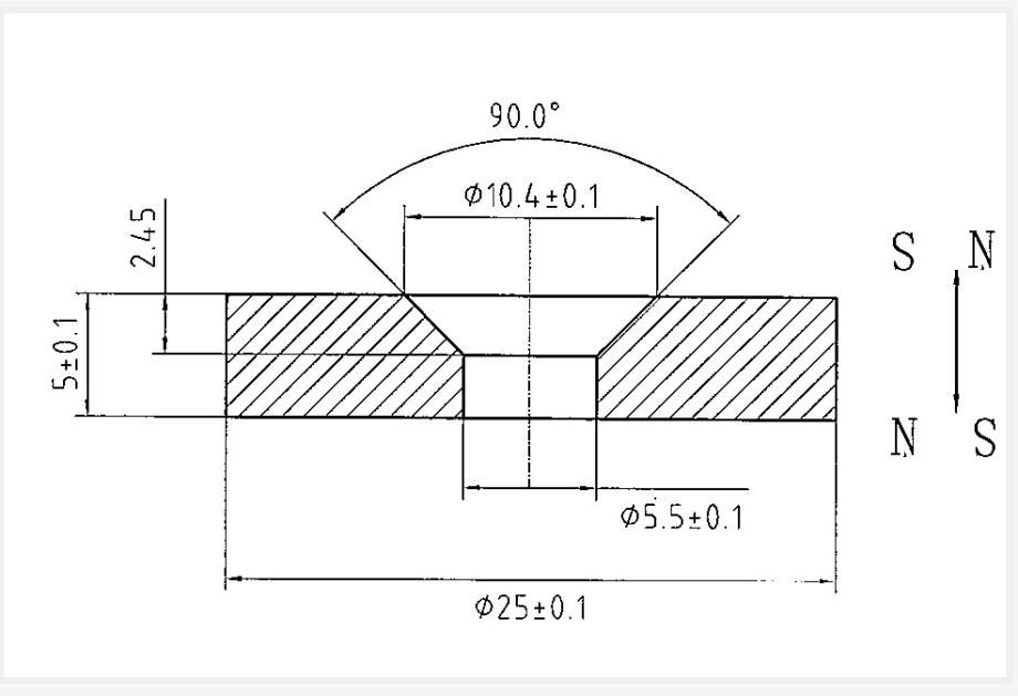 25x5-M5_CSK Neodymium Magnet